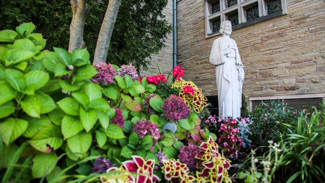 St. Clare of Montefalco Catholic Church in Grosse Pointe Park, Mich., planted a garden in remembrance of St Joseph.
