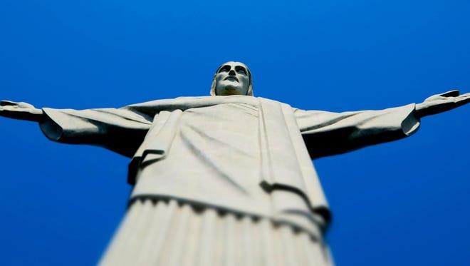 The Christ the Redeemer statue is shown Saturday, Oct. 10, 2015, in Rio de Janeiro, Brazil.