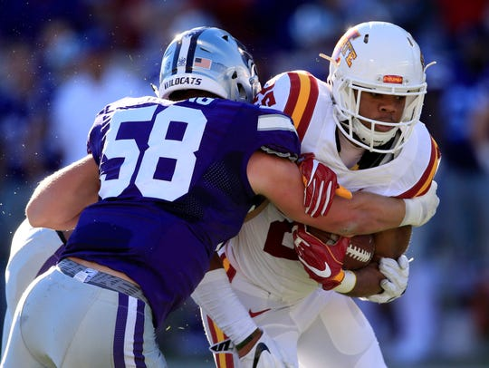 Iowa State running back Sheldon Croney Jr. (25) is