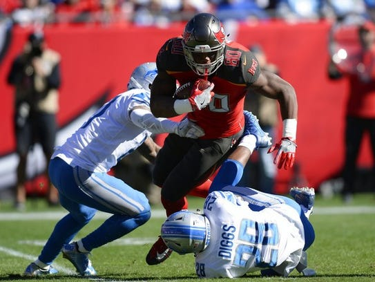Tampa Bay tight end O.J. Howard caught six touchdowns