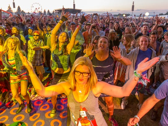Phish fans welcome the band at Magnaball, their three-day festival in 2015 at Watkins Glen International racetrack.