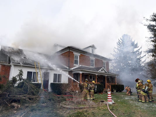 House fire at 16 Vanderbilt Road