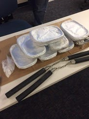 More than 17 pounds of methamphetamine and two sets
