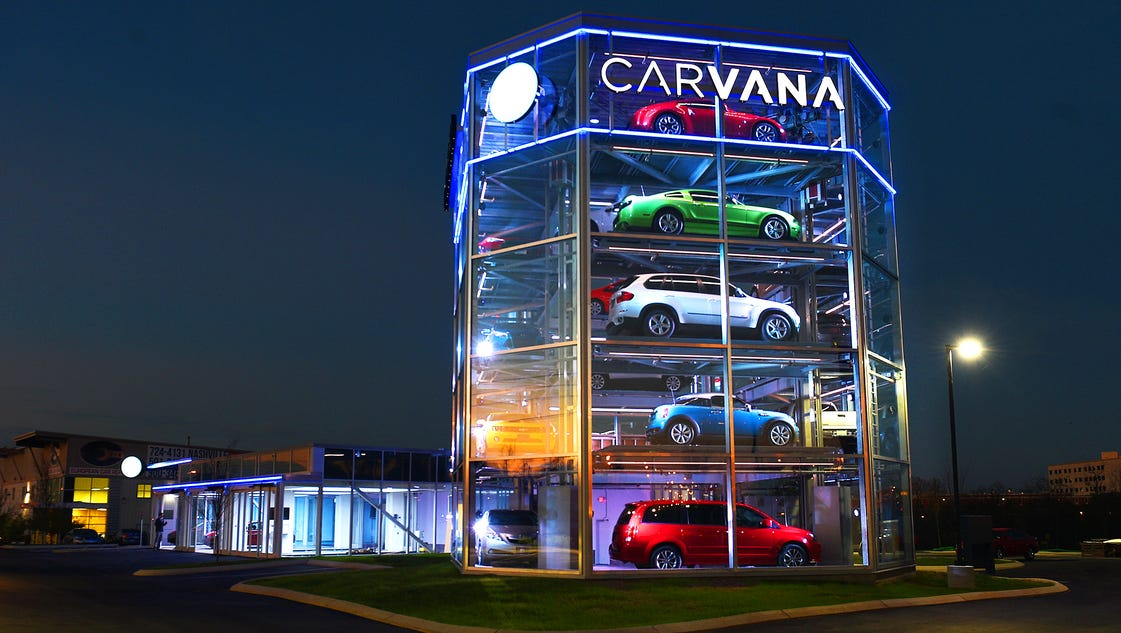 carvana vending machine spins used car industry on new path. Black Bedroom Furniture Sets. Home Design Ideas