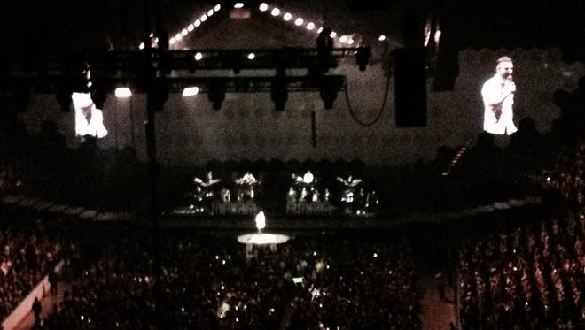A view of Justin Timberlake from the nosebleed section.