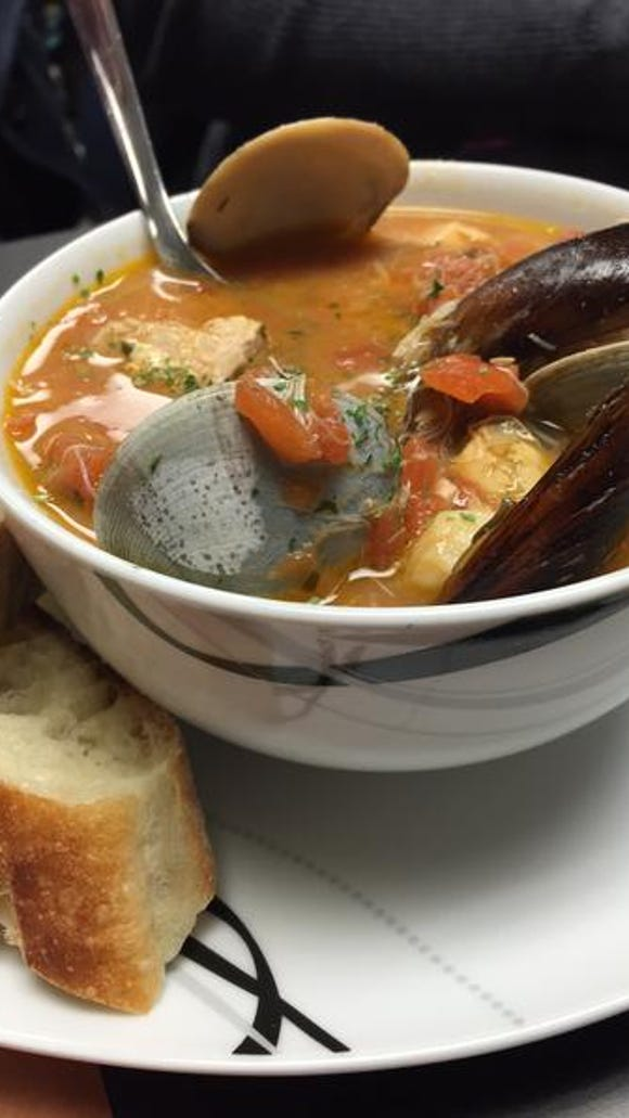 A bowl of cioppino from George & Sons' Seafood Market in Hockessin.