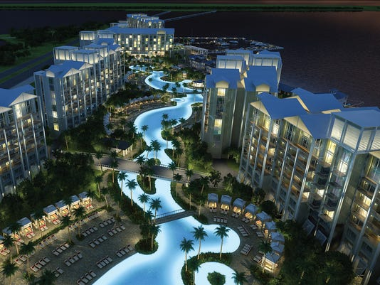 Allegiant Travel Co Plans To Build A Condo Hotel Along Charlotte Harbor That Will Feature 1000 Foot Long Swimming Pool Shops And Restaurants