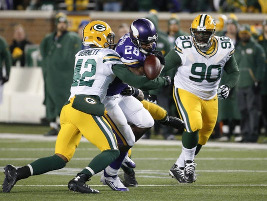 Morgan Burnett, Adrian Peterson