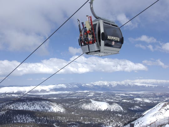 The gondola at Mammoth Mountain.