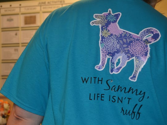 Staff at Morningside of Gallatin made Sammy T-shirts.