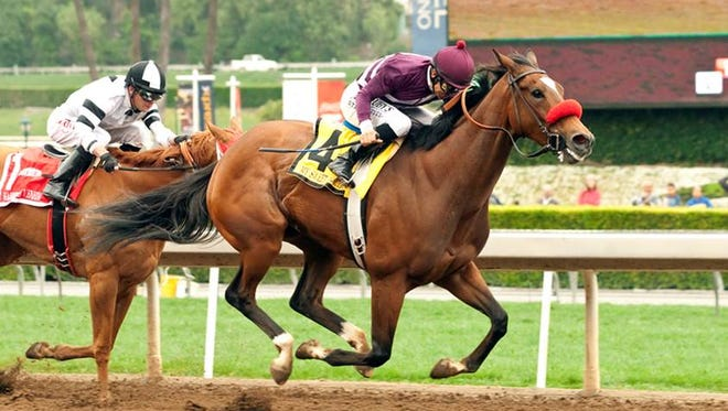 My Sweet Addiction, a top contender in Churchill's Fleur De Lis, won Santa Anita's Vanity Stakes.