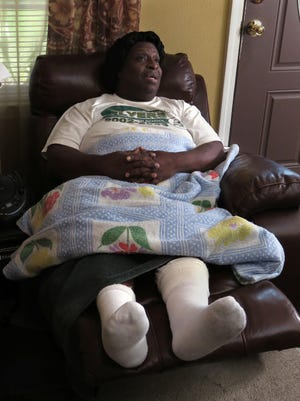 Johnnie Lee Turner talks about his experience of being hit by a car in the living room of a house of a friend whom he was visiting. Turner, a well-known church pianist in the Pensacola area, talked about the injuries to his legs from the accident and how his recovery is going.