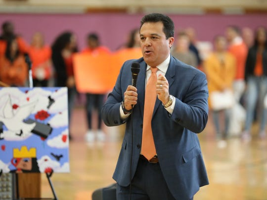Yonkers schools Superintendent Edwin M. Quezada says the city schools face a $46 million budget gap in the coming year.
