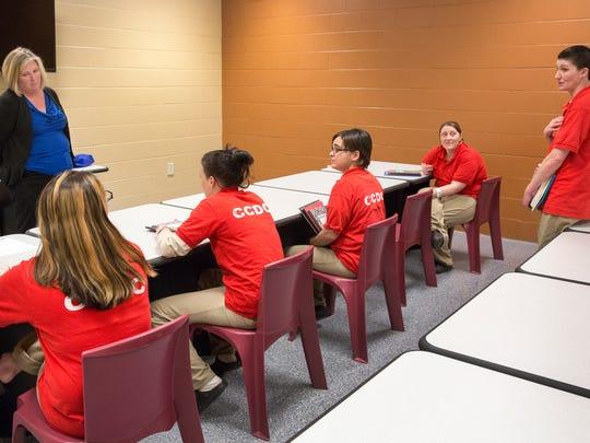 Kristie Blanchet leads a Behavior Chain class.