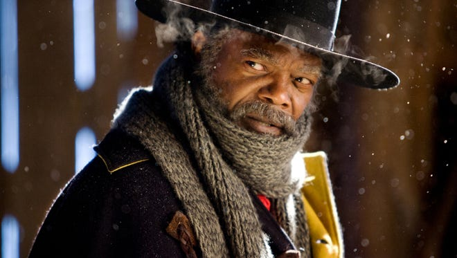 "Samuel L. Jackson stars as Major Marquis Warren, one of the handful of people stuck in a snowbound cabin in director Quentin Tarantino's ""The Hateful Eight."""