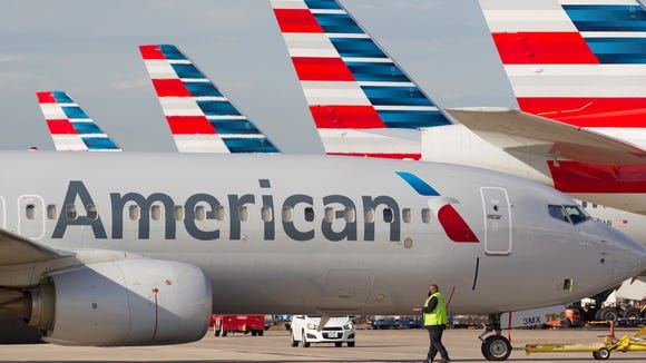 American Airlines jets ready for departure from Dallas/Fort