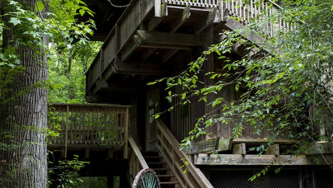 The Acadiana Park Nature Station is home to primitive trails and elevated boardwalks through the forest in the park and a facility used to educate students and the public.