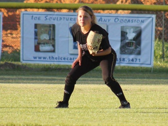 Benton's Brittany Ulmer holds down an outfield spot