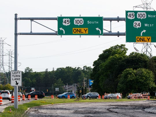 Two lanes of West Forest Home Avenue are closed, causing