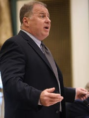 William J. Brennan of Wayne arguing his case. He announced his candidacy for governor of  New Jersey during a news conference at Wayne Town Hall on Dec. 5, 2016. (Photo taken Nov. 30, 2016.)
