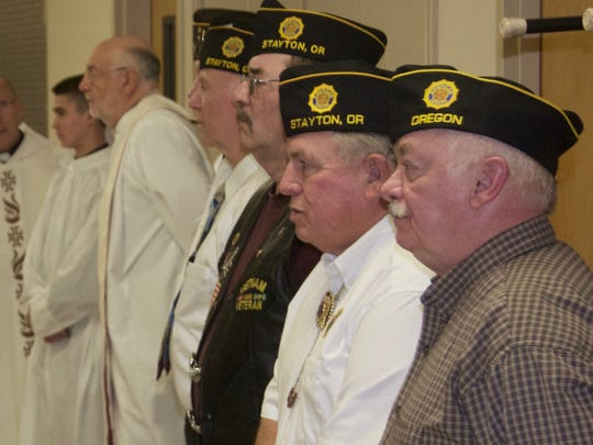 Veterans Day at Regis High School was recognized on Tuesday, Nov. 10, with Mass followed by a program featuring local vets. This marked the school?s 4th annual celebration, which is organized by local veterans Norm Rauscher, Dr. Tom Van Veen, and Larry Etzel.