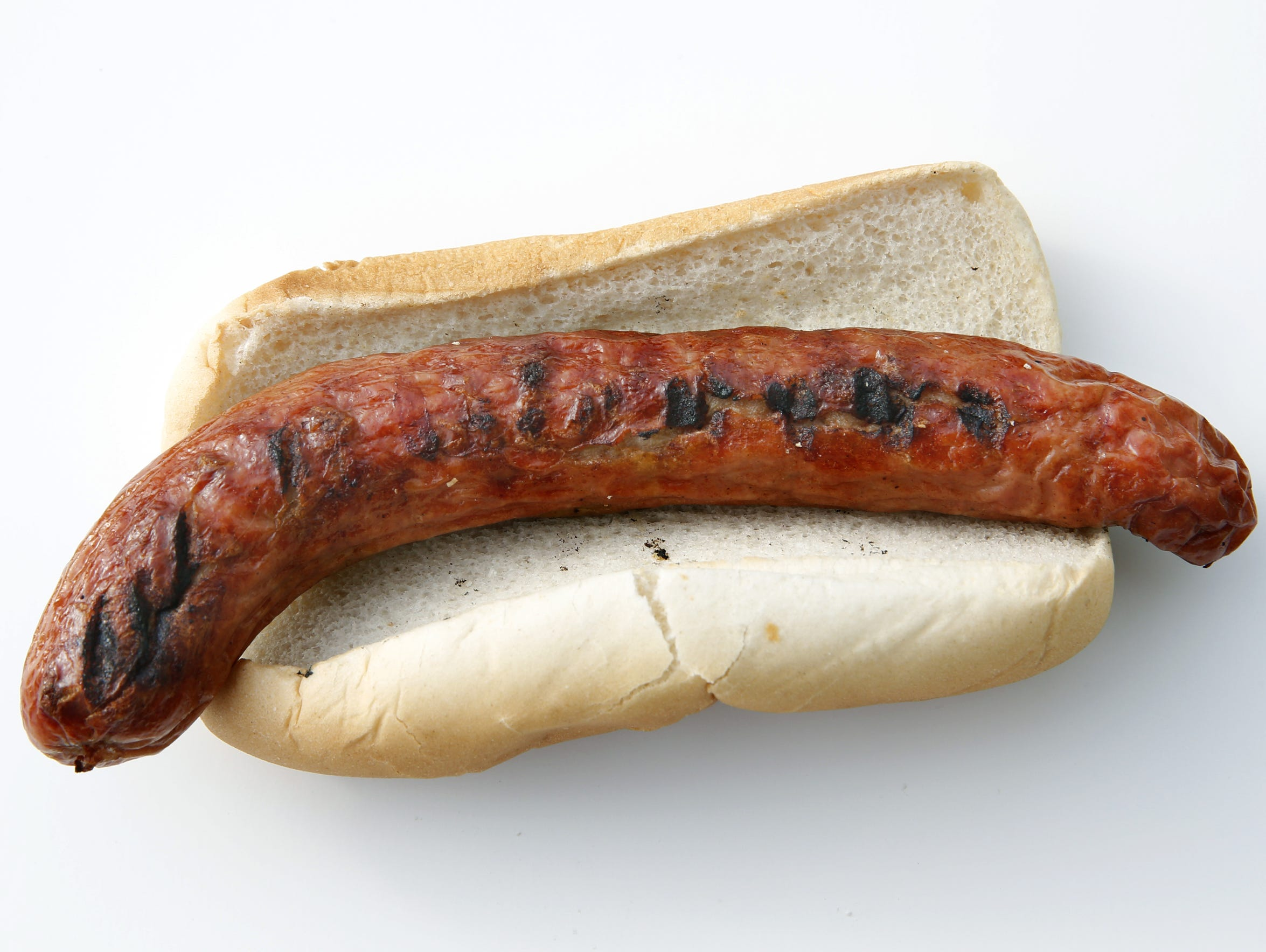 The hot dogs from Costanza's Sausage in Webster were