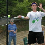 Austin Hussey of CovCath is looking for his second state tennis singles title.