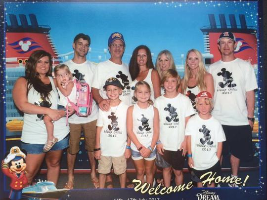 Family photo on Disney Cruise