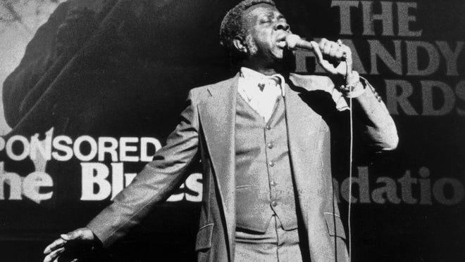 Rufus Thomas performs at the first annual presentation of the National Blues Music Awards at the Orpheum Theater on Nov. 16, 1980. Professor Longhair, a New Orleans boogie pianist-singer, Delta bluesman Robert Jr. Lockwood and Johnny Shines were among those garnering top honors.