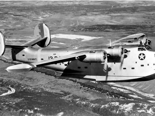 PB2Y Coronado aircraft of US Navy VP-13 squadron in flight, November 1940.