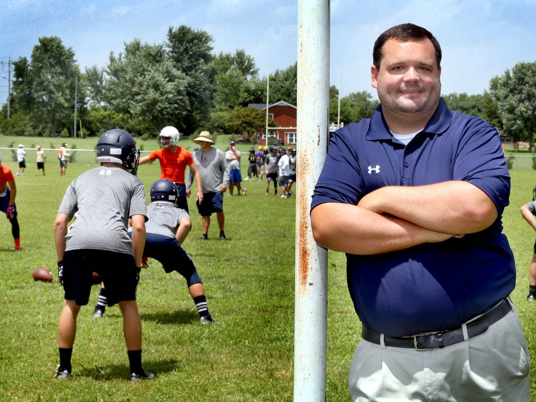 Brad Rohling oversees athletic trainers at high schools in county.