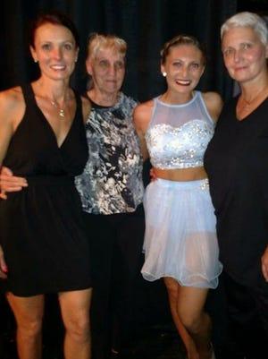Three Generations of Dance, Sheri Daknis, Betty Doscher, Keryn Dirk, Bonnie Dirk