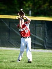 Annville-Cleona rightfielder Tyler Schrader records