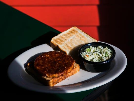 October 25, 2016 - The veggie burger at The Bar-B-Q