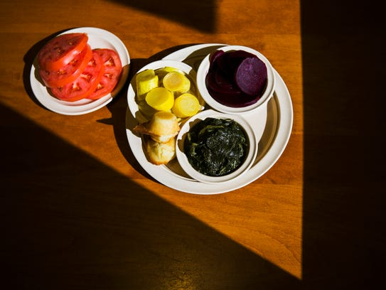 October 25, 2016 - The veggie plate at The Cupboard