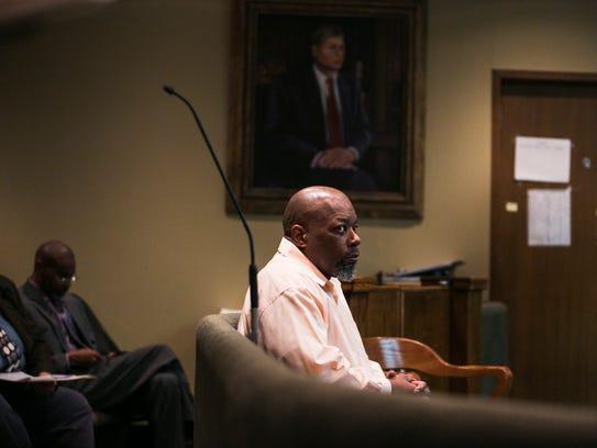 Former Memphis firefighter Ronald Ellis, 53, sits in