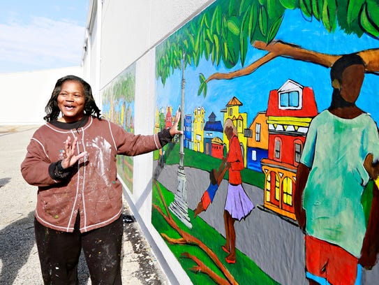 Artist Ophelia Chambliss, of Manchester Township, talks