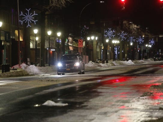 Streets are mostly clear in White Plains on Friday,