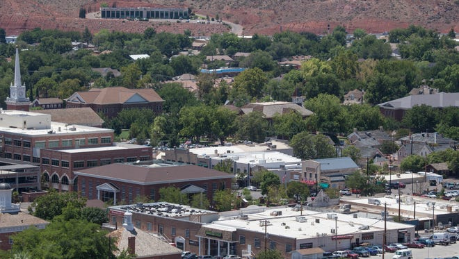 St. George City official and builders look to develop downtown with a series of commercial and residential buildings Friday, August 5, 2016.
