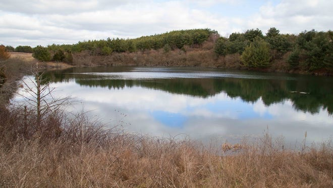 One of the ponds on the state's newest wildlife management area in Pulaski County.