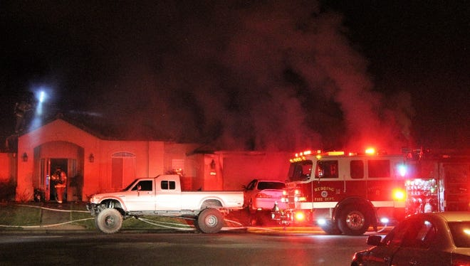 A butane honey oil fire destroyed a garage early Sunday morning in Redding.