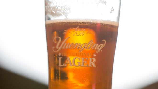 A pint of beer at a pre-launch event at Monarch Beverage, in advance of the release of Yuengling, a popular Pennsylvania-based beer that's coming into the Indiana market, Indianapolis, Tuesday, March 28, 2017.