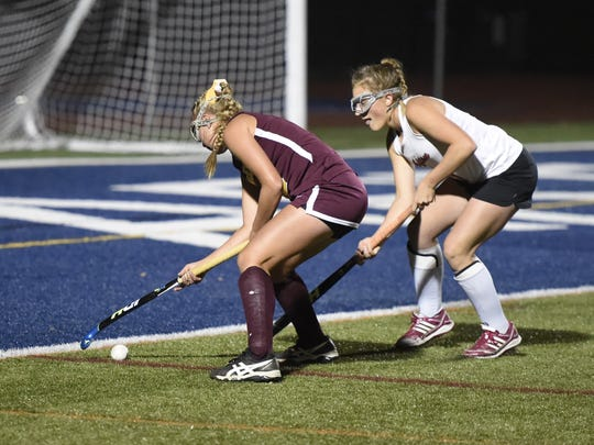 Whitney Point's Elaina Burchell, left, will look to lead the Golden Eagles to a fourth straight state title this weekend at Maine-Endwell.