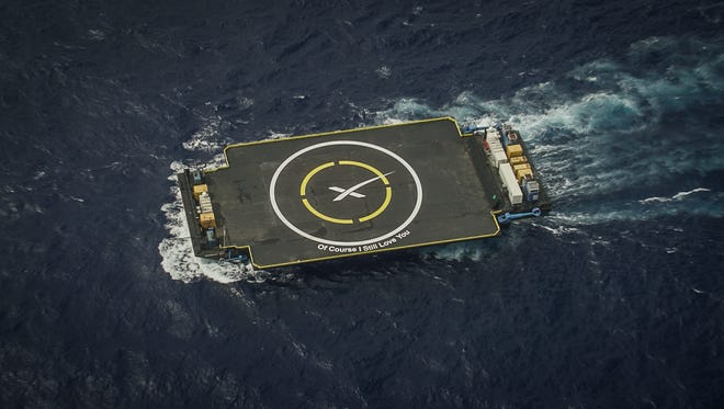 SpaceX's Of Course I Still Love You drone ship, which is based on the East Coast.