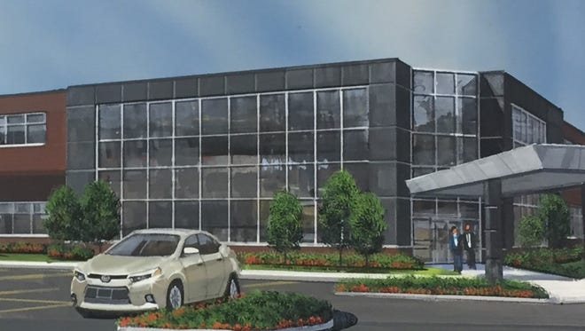 An artist's rendering of the planned Hino Trucks U.S. headquarters on 12 Mile near Taft on Novi.