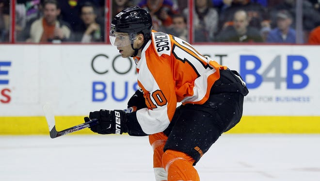 The Flyers' Brayden Schenn returned to action after missing Friday's practice with a head injury.