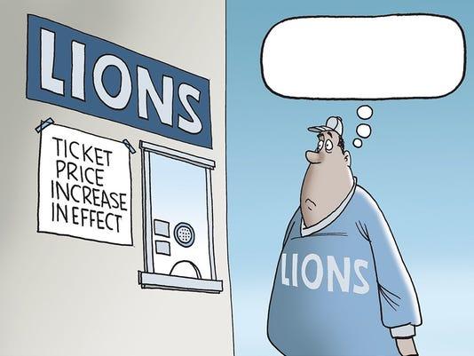 Mike Thompson Lions cartoon