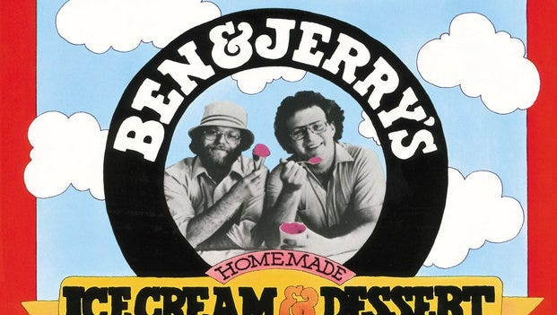 """""""Ben & Jerry's Homemade Ice Cream & Dessert Book"""" tells  the story behind the company."""