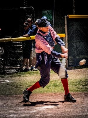 Players dress in period uniforms to play in Bisbee's Copper City Classic Vintage Base Ball Tournament.