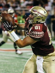 Florida State redshirt junior tight end Ryan Izzo has hauled in 34 catches and three touchdowns during his career.